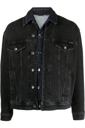Dolce & Gabbana Layered lettering print denim jacket