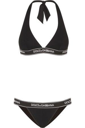 Dolce & Gabbana Halterneck logo-band bikini