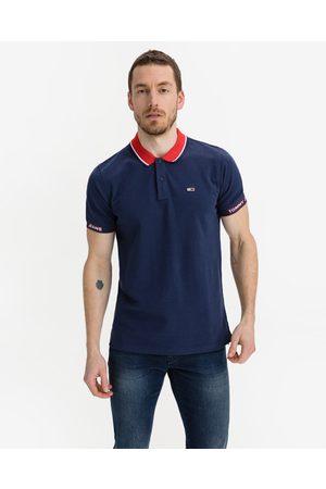 Tommy Hilfiger Detail Rib Jaquard Polo T-shirt Blue