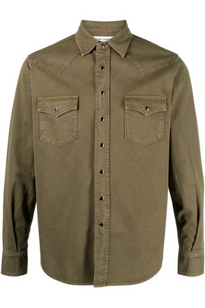 Saint Laurent Homem Formal - Stonewashed western shirt
