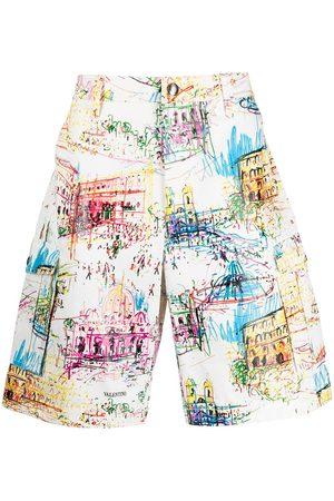 Valentino Roman sketches print Bermuda shorts