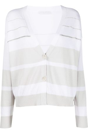 Fabiana Filippi Stripe-pattern fine-knit cardigan