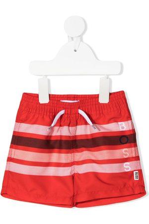 BOSS Kidswear Bebé Calções de Banho - Striped drawstring swim shorts