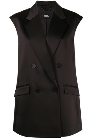 Karl Lagerfeld Pleated back tailored gilet