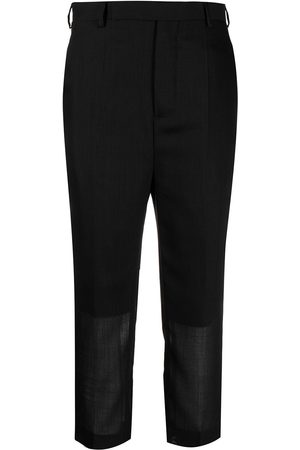Rick Owens Straight leg cropped trousers