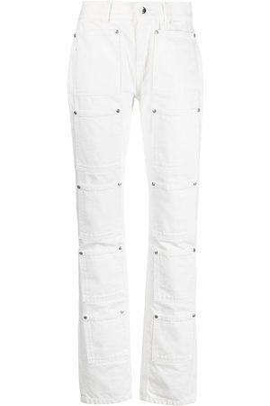 Lourdes Senhora Bootcut & Boca-de-sino - High-rise multi-pocket flared jeans