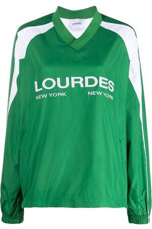 Lourdes Senhora Manga comprida - Logo-print long-sleeved jersey