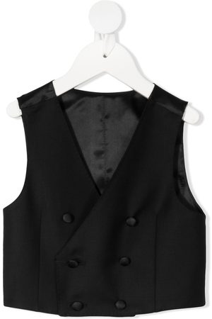 Dolce & Gabbana Kids Menina Coletes - Double-breasted waistcoat
