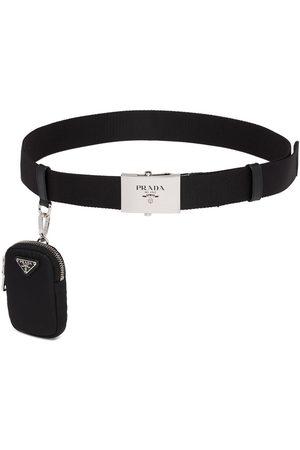 Prada Homem Cintos - Pouch detail logo belt