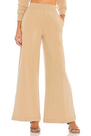 L'AGENCE Luxe Lounge The Campbell High Rise Wide Leg Pant in - Neutral. Size L (also in XS, M).