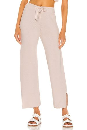 Weekend Stories Imogen Lounge Pant in - Blush. Size L (also in XXS, XS, S, M, XL).