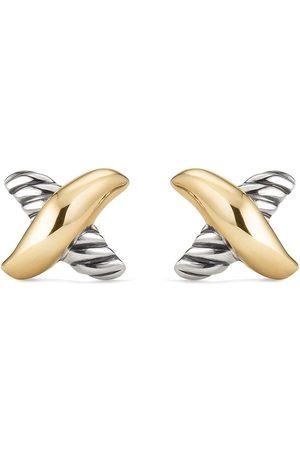 David Yurman 18kt yellow small X stud earrings