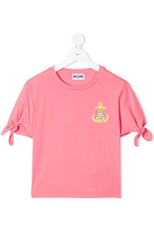 Moschino Kids Teddy-embellished T-shirt