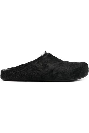 Marni Calf hair slippers