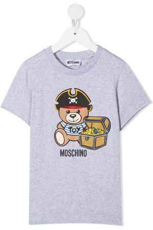 Moschino Kids Teddy bear-print cotton T-Shirt