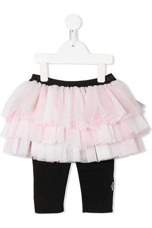 Balmain Kids Tiered tulle skirt with leggings