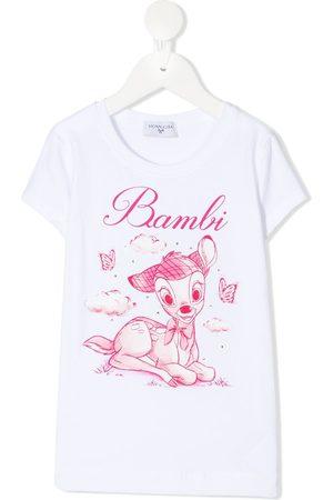 Monnalisa Bambi-print stretch-cotton t-shirt