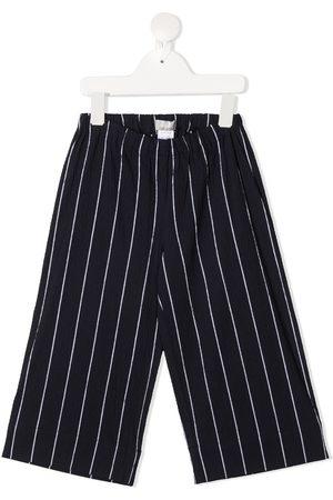 Il Gufo Elasticated pinstripe-print trousers