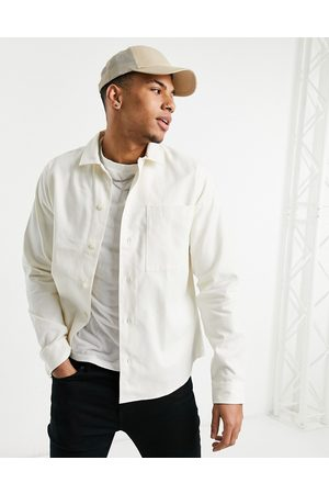 Selected Homme Overshirt jacket in egret-Beige