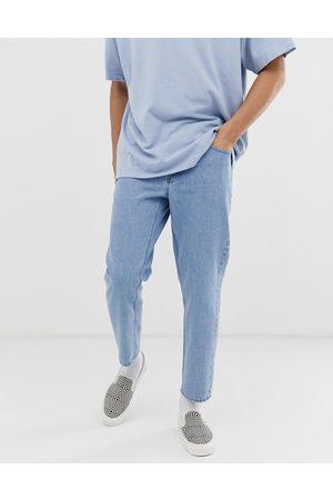 ASOS DESIGN Classic rigid jeans in light stone wash blue