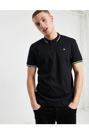 jack & jones Essentials jersey polo in black