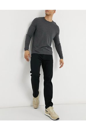 jack & jones Intelligence Mike straight fit jeans in black