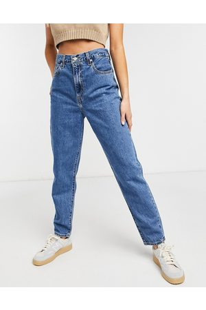 Levis Levi's high loose tapered jean in midwash blue