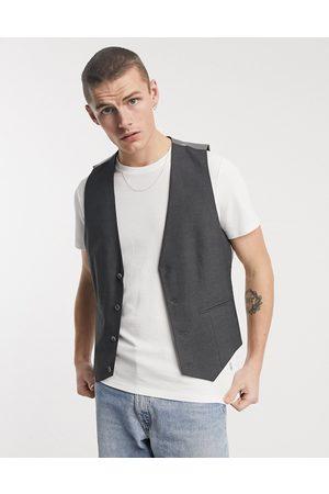ASOS DESIGN Skinny suit waistcoat in charcoal-Grey
