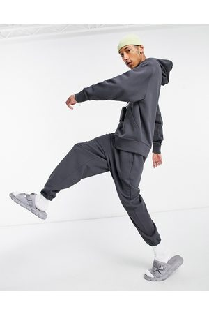 ASOS DESIGN Co-ord heavyweight oversized joggers in washed black