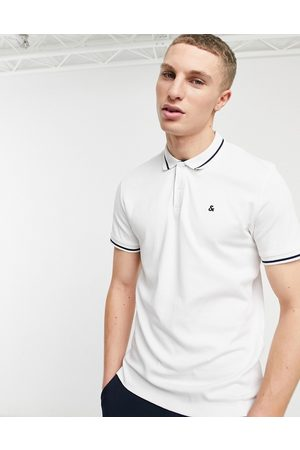 jack & jones Essentials jersey polo in white