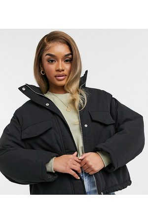 ASOS DESIGN Petite chuck on padded jacket in charcoal-Grey