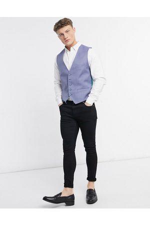 Ted Baker Strong debonair plain slim fit waistcoat-Blue