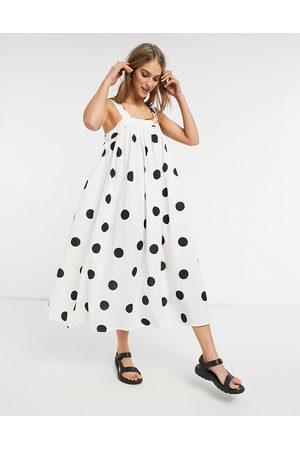 ASOS DESIGN Trapeze maxi dress in oversized mono spot-Multi