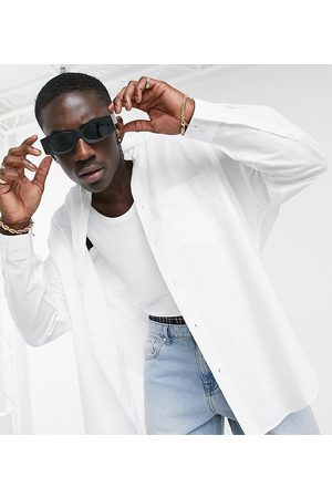 ASOS DESIGN Extreme oversized dad shirt in white