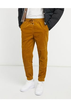 New Look Utility cord jogger in tan-Grey