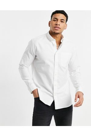 Selected Homme Oxford shirt in white-Black