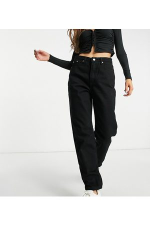 Missguided Riot recycled mom jean in black