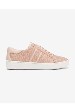 Michael Kors Keaton Logo Stripe Sneakers Pink Beige