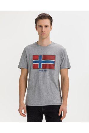 Napapijri Homem T-shirts & Manga Curta - Sirol T-shirt Grey