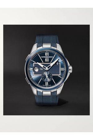 Ulysse Nardin Homem Relógios - Dual Time Automatic 42mm Stainless Steel and Rubber Watch, Ref. No. 243-20-3/43