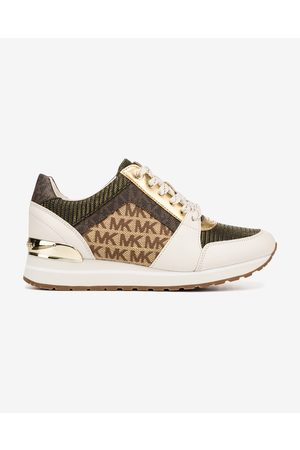 Michael Kors Senhora Ténis - Billie Trainer Sneakers White Brown