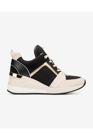 Michael Kors Georgie Trainer Sneakers Black Beige