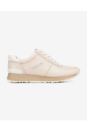 Michael Kors Senhora Ténis - Allie Trainer Sneakers Beige