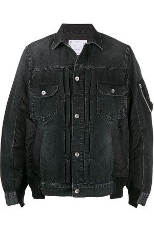SACAI Patchwork denim jacket