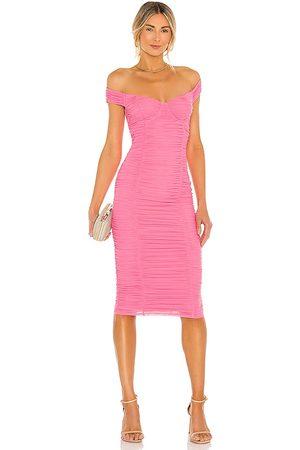 MAJORELLE Tabitha Midi Dress in - Pink. Size L (also in XXS).
