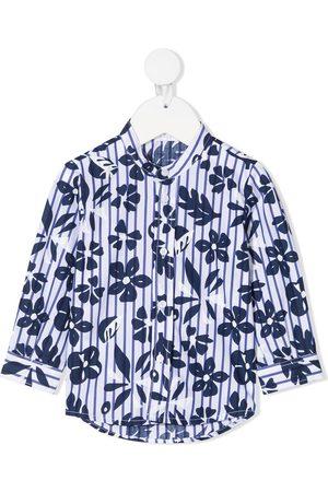 Il gufo Bebé Camisas - Floral-print cotton shirt