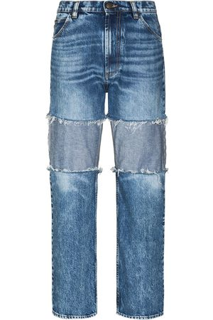Maison Margiela Reverse-panel high-rise boyfriend jeans