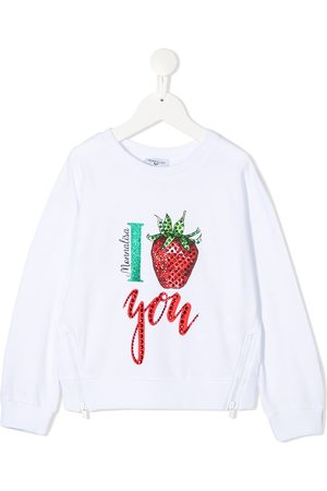 MONNALISA Double-zip cotton sweatshirt