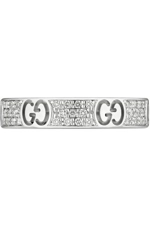 Gucci Senhora Anéis - 18kt white gold diamond Icon stardust band ring