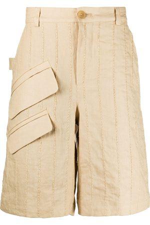 Jacquemus Vertical-stripe Bermuda shorts